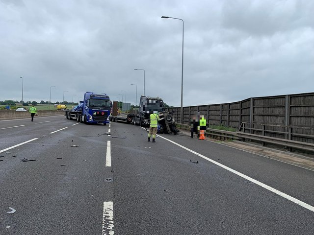 Highways England tweeted this picture of the crash scene.