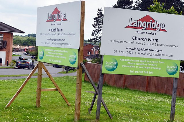 Developer, Langridge Homes Limited, says it cannot afford to build the affordable homes in Peasehill Road, Ripley. It claims providing the affordable homes would make the Church Farm scheme financially unviable.