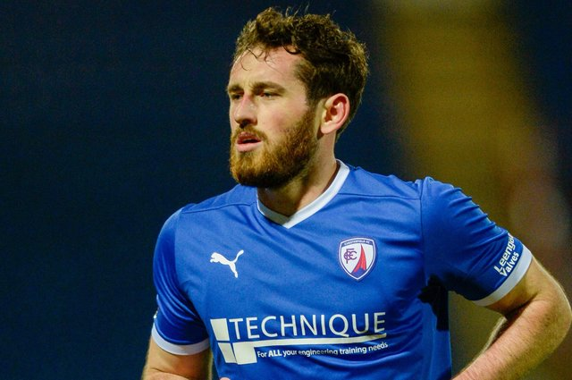 Chesterfield host Yeovil Town in the National League on Saturday. Pictured: Jak McCourt.
