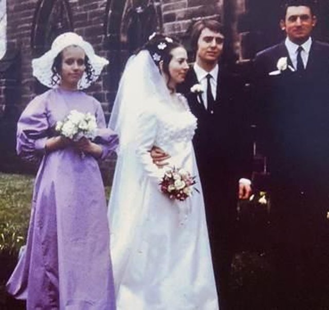 Geoff and Julia on their wedding day, April 5th 1971.