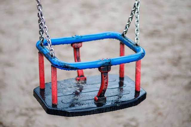 Teenagers in Derbyshire are being urged to act responsibly and not waste firefighters' timeby getting themselves stuck in toddler swings.