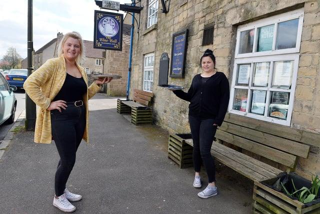 Bar staff Beth Davison and Kelly Launders.