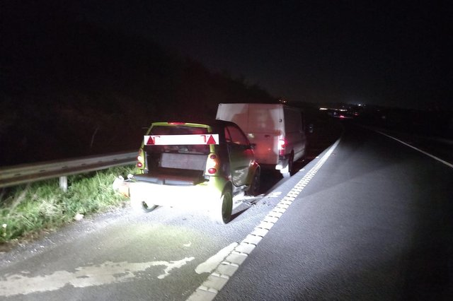 Officers from Derbyshire Roads Policing Unit seized a transit van on the M1 today (April 25) after the driver was found to have no car insurance or driving licence.