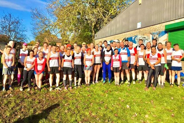 Ilkeston RC members pictured not long before the pandemic at a race in Derby. The club has since grown in numbers despite the enforced break.