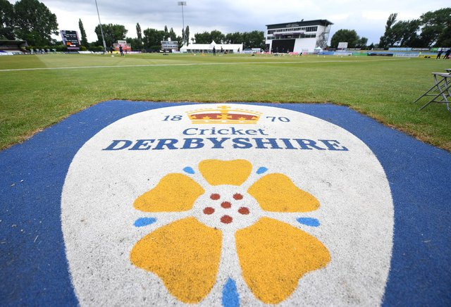 Derbyshire 's game at home to Essex was abandoned after a Derbyshire player tested positive for COVID. (Photo by Tony Marshall/Getty Images)