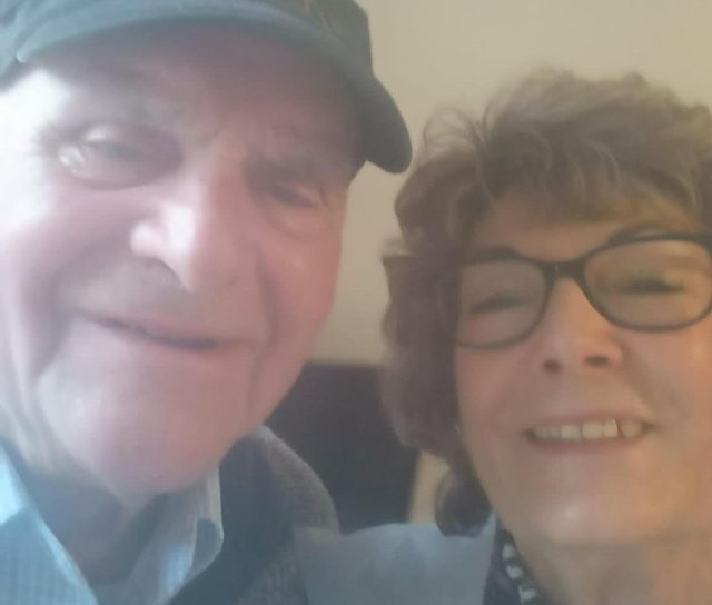 Donald Hopkinson with his sister Janet McKenna.