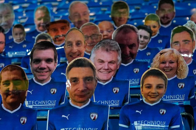 Cardboard cut-outs of Town fans will soon be no more!