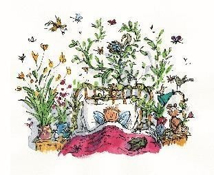 Quentin Blake's illustration for the children's book All The Year Round by John Yeoman. Image copyright of Quentin Blake.