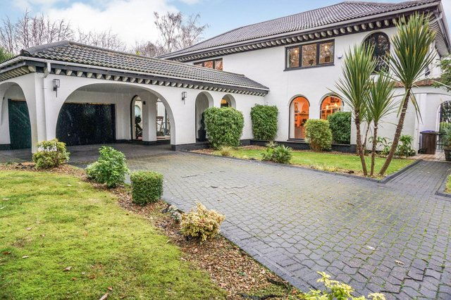 The property's design has a Mediterranean flavour.