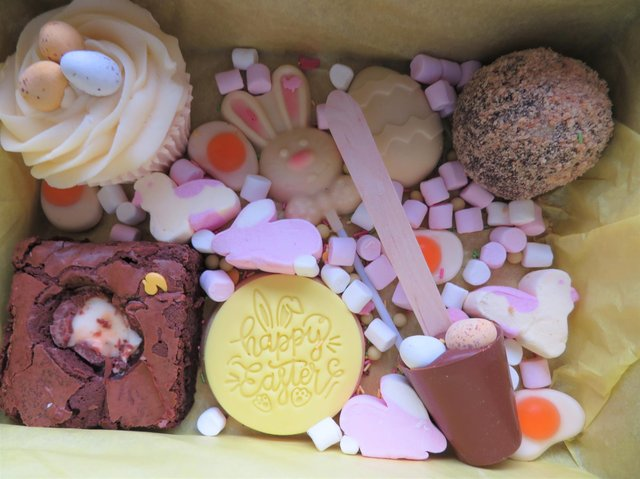 Easter treat box from Small Town Girl Bakery.