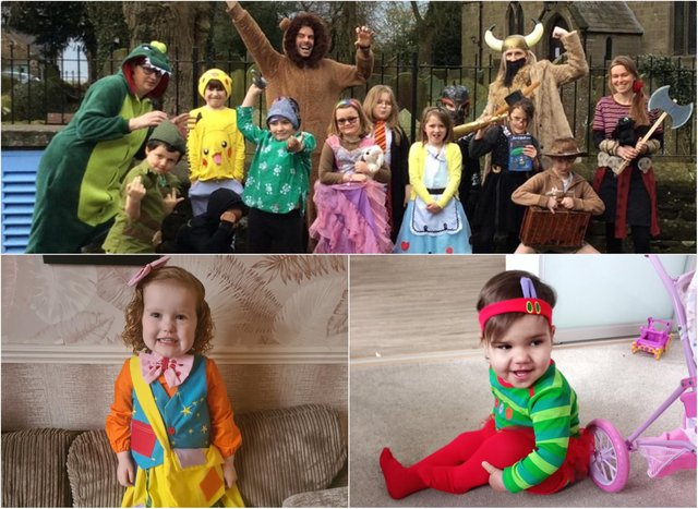 Some of the photos sent to the Derbyshire Times on World Book Day