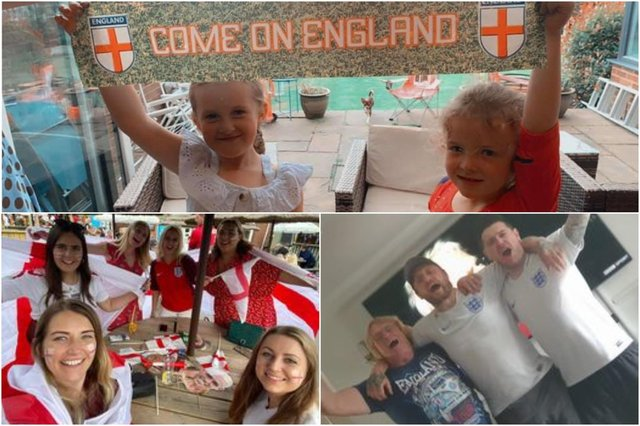 Fans at home and in pubs across Derbyshire showed their support for England in the final of Euro 2000 on Sunday. Photos submitted by Tia Hewitt, Jessica Meade and Ashleigh Johnson.