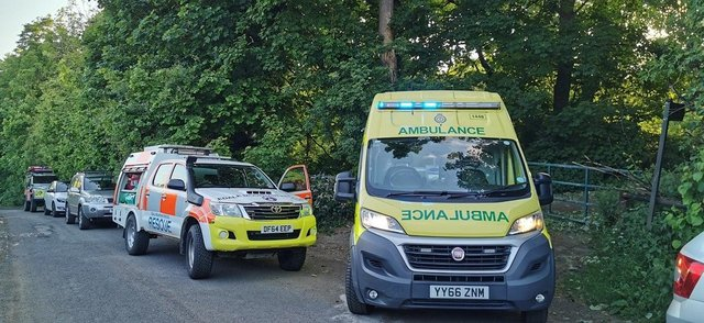 Edale Mountain Rescue Team were called to the Peak District to rescue climbers that had fallen. Credit: Edale Mountain Rescue Team.