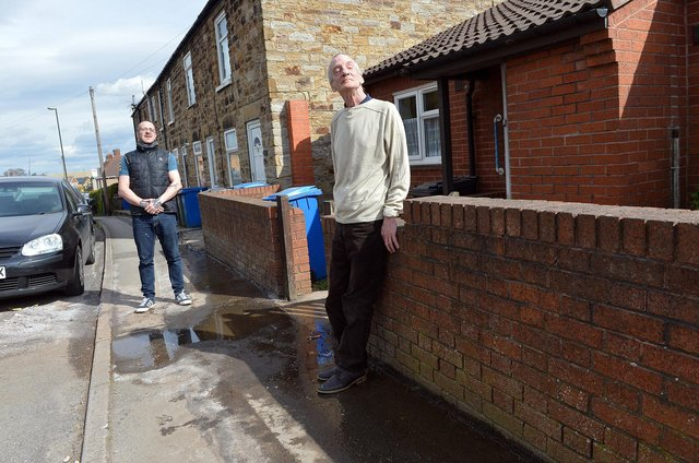 Carl Sheldon has been repairing and gritting a leak himself as his uncle Austin Gledhill, 69, is blind.