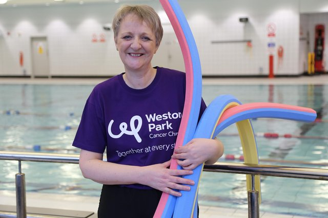 Lesley Rechert, swimming instructor at Queen's Park Sports Centre, organises the OutSwimming sessions.