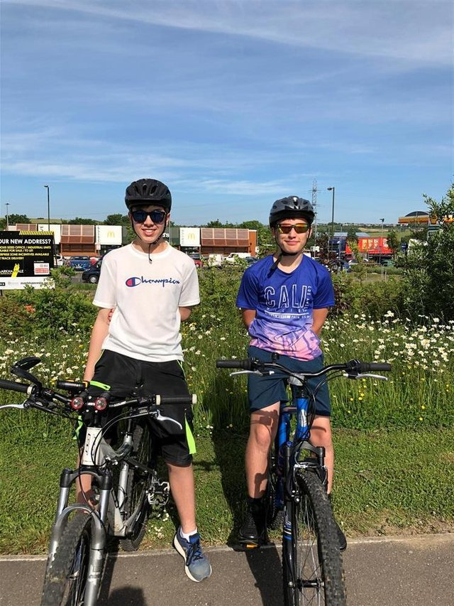 Friends Dylan Thomas and Jayden Beniston are to take on a 50-mile charity bike ride on July 3
