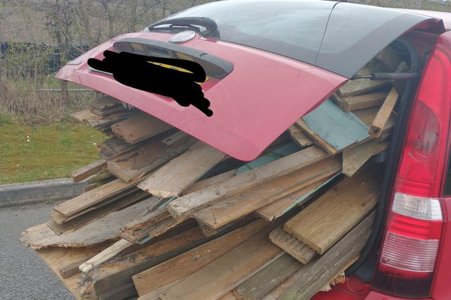 The driver failed to see a problem with his overloaded Fiat. Image: North East Derbyshire Reponse Team.