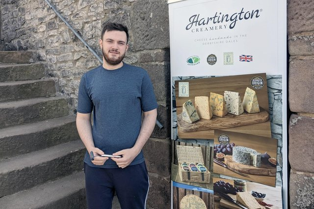 Ryan Gee, an apprentice at Hartington Creamery in Matlock, has been named Young Cheesemaker of the Year.
