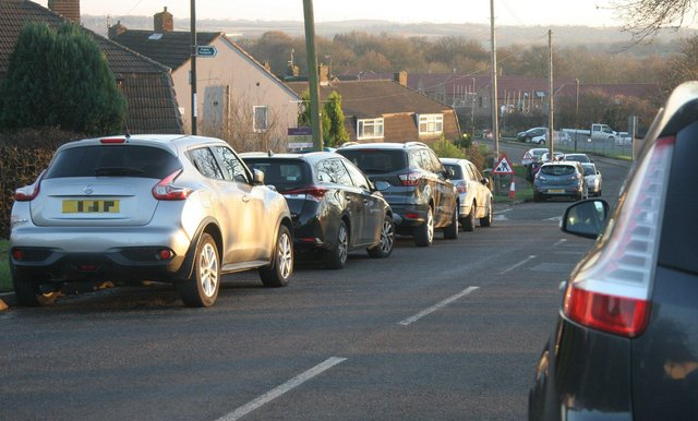 Parking problems outside Hady Primary School, pictured in 2019.
