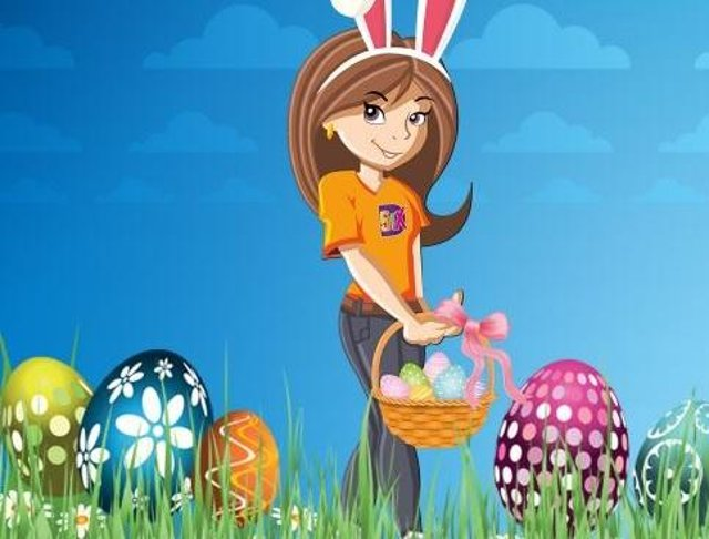 Easter egg hunt trail at Markeaton Park, Derby.