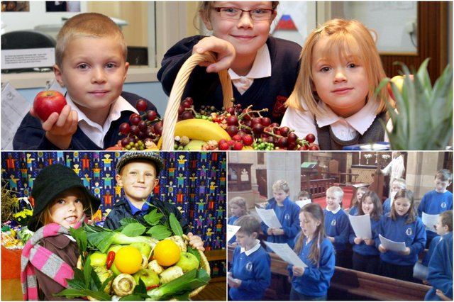 Who do you recognise in our school harvest festival photos?