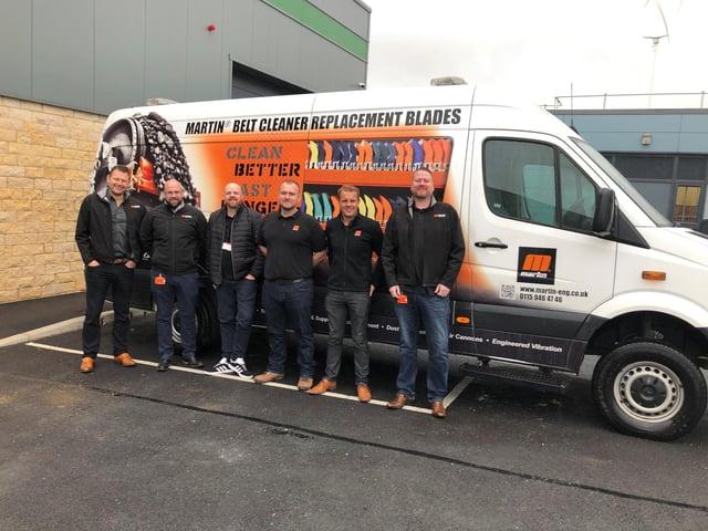 The Martin Engineering team based at Shirebrook.