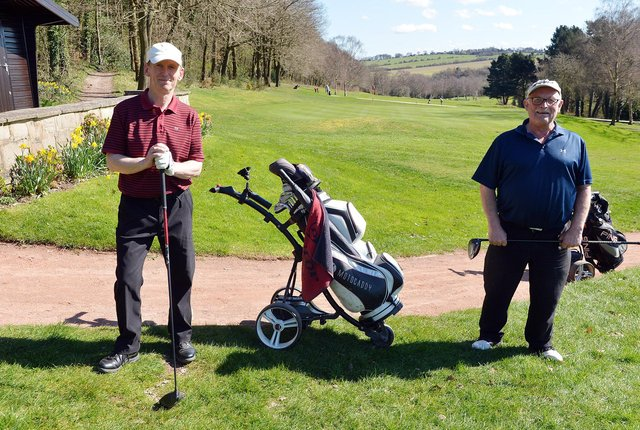 Chesterfield golf course reopens from the latest lockdown on March 29th. Patrick Dunn and Howard Pickering.