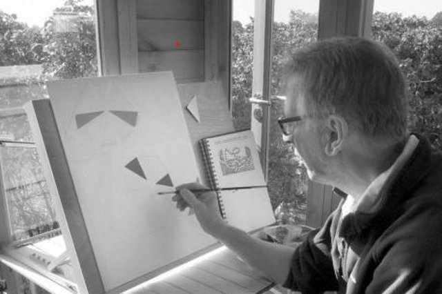 Michael Hill uses art as therapy to help him cope with Parkinson's Disease.