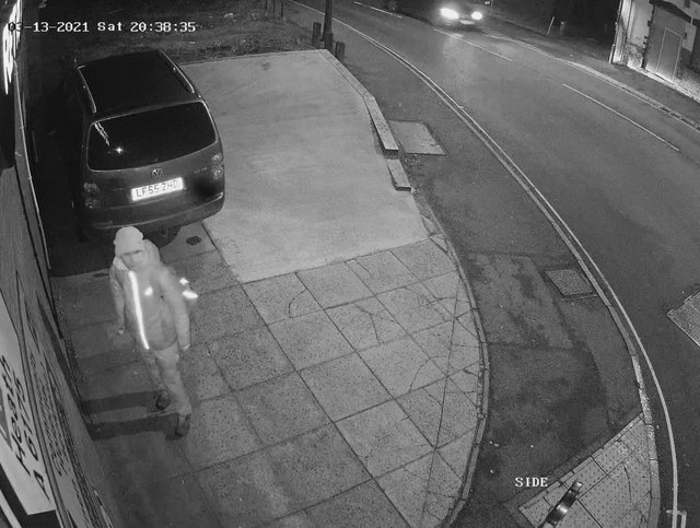 CCTV captured a person spraying painting graffiti on the wall at the side of Sweet Retreat, High Street in Clay Cross.