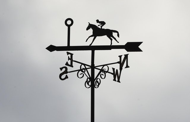 A view of a weather vane at Uttoxeter racecourse. (Photo by Mike Egerton - Pool/Getty Images)