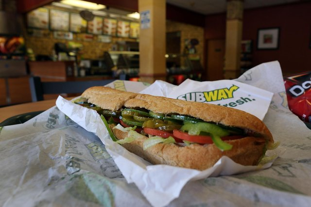A Subway sandwich. (Photo by Joe Raedle/Getty Images)