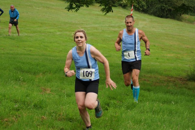 Louise Rowley and Steve Goodall at the MAC Club XC.  Pic by Tony Sprinks.