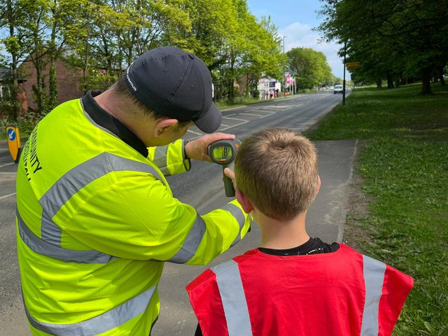 Speed checks on the A61.