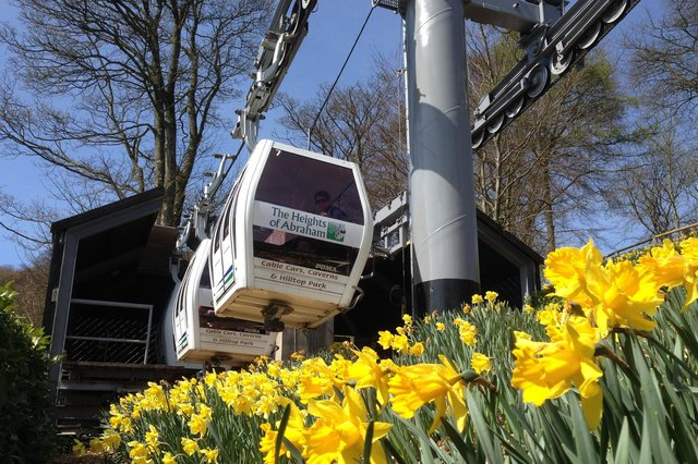 Cable cars at The Heights of Abraham will be running again from April 12, 2021.