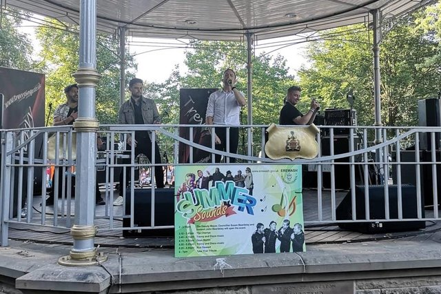 Take That Tribute band will be performing on the bandstand at Victoria Park, Ilkeston, on July 25, 2021.