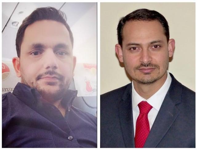 Theft victims MuhammadShahzad Fareed and RajaWaseem Ahmed.