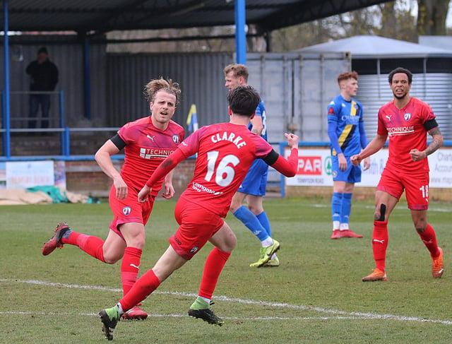 Tom Whelan scored the winner against King's Lynn Town on Saturday. Picture: Alan Palmer