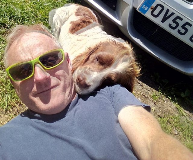 """Phil Littlewood with """"best friend"""" lucky"""