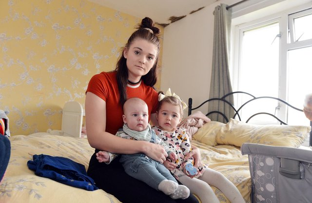 Hollie-Mai is currently living in a one-bed flat with her two young children - Elsie-Mai and Oscar as well as her partner Joshua Walker.