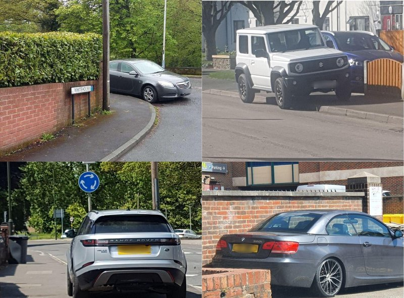A collection of some terrible parking examples from around the town