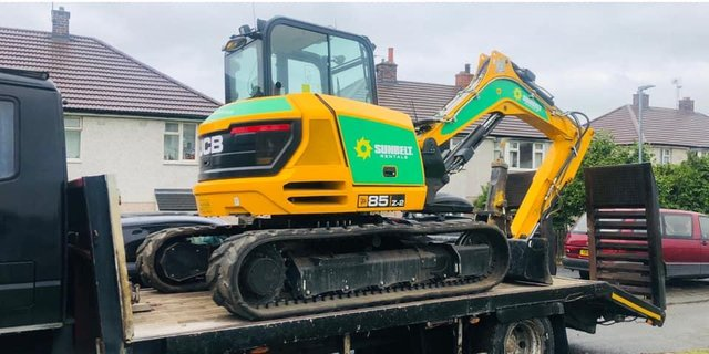 A man has been arrested following the theft of an excavator in Brimington