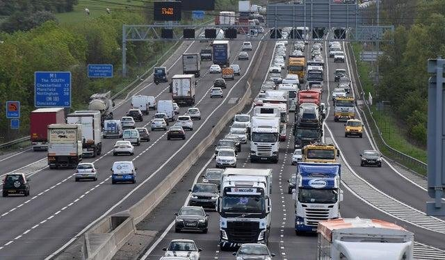 There are currently delays on the M1 in Derbyshire