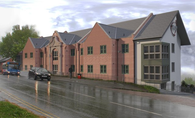 An artist's impression of the care home. Picture by HSSP Architects.