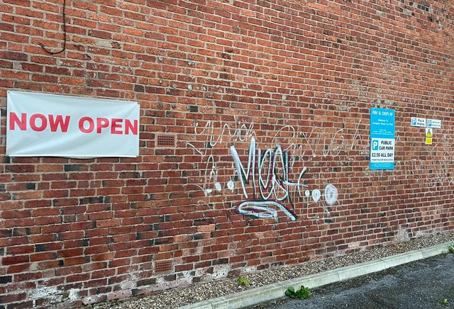 Graffiti in Chesterfield. Pictures by Ed Fordham.
