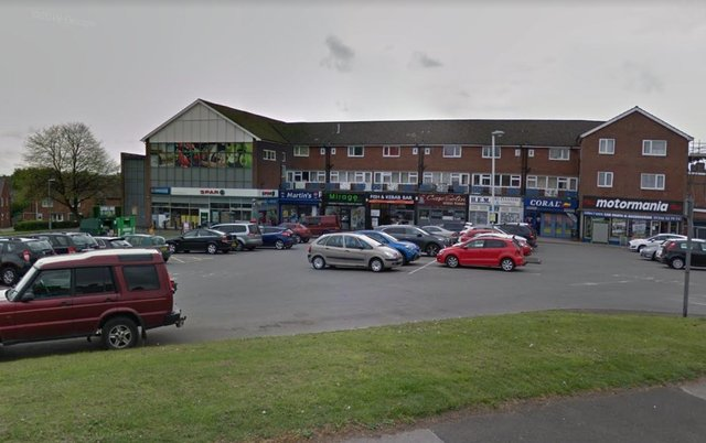 The shops at Littlemoor, Chesterfield. Picture from Google for illustrative purposes only.