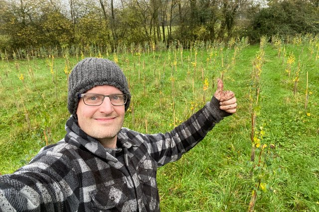 Darrell Taylor is urging businesses in Derbyshire to plant trees to off-set their carbon emissions.