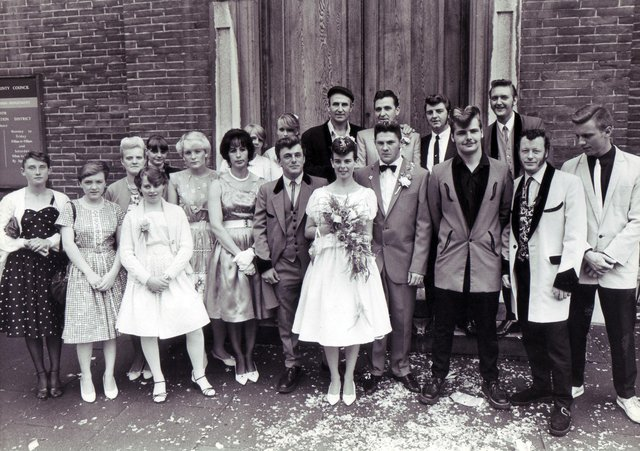 Ready teddy go for this themed wedding at Chesterfield Register Office in 1983. Are you among the guests?
