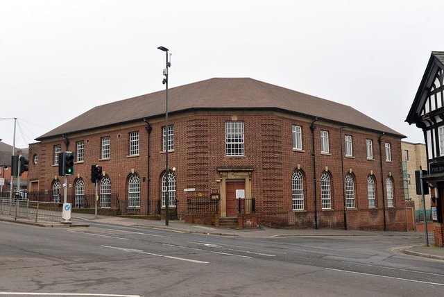 Chesterfield's old county court is being converted into apartments. Picture by Brian Eyre.