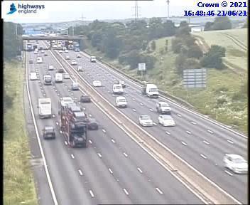 The broken down vehicle has now been recovered. Credit: Highways England.