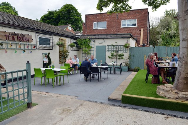 Cakefield Cakes Tea Room in Pleasley opened their new 'secret garden' outside seating area over the May Bank Holiday.